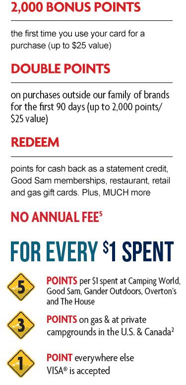 good sam visa card camping world. Black Bedroom Furniture Sets. Home Design Ideas