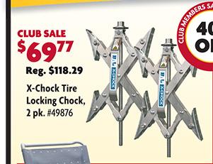 X-Chock Tire Locking Chock - 2 Pack