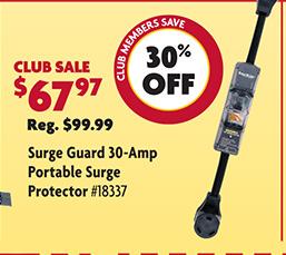 Surge Guard 30 Amp Portable Surge Protector