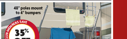 Bumper Mount RV Clothesline