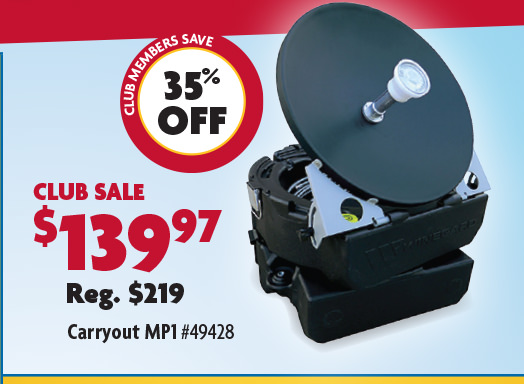 Winegard Carryout MP1 Manual Portable Satellite TV Antenna