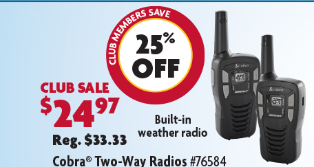 Cobra FRS Radios Set of 2