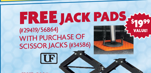 Free Jack Pads with purchase of Scissor Jacks