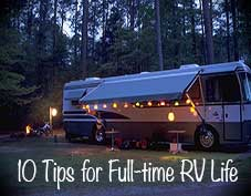 Full time RVing tips