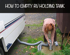 How to empty rv dump tank