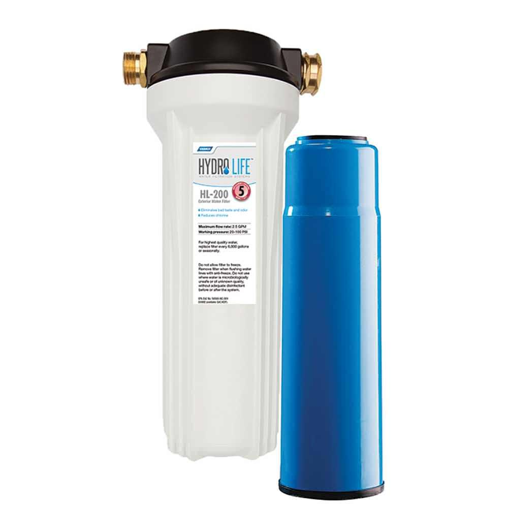Hydro life rv marine exterior water filter kit ebay for Kit filtration