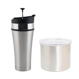 Tea Tumbler Infuser Mug and 4&quot&#x3b; Airscape, Brushed Steel