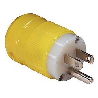 Male Plug, 15A 125V, Yellow