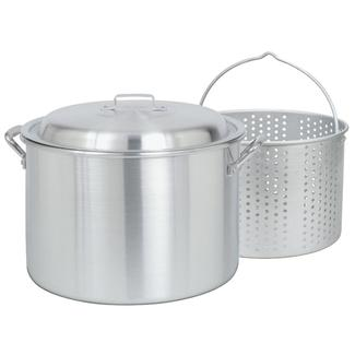 Bayou Classic® 20-qt Aluminum Stockpot with Lid and Basket