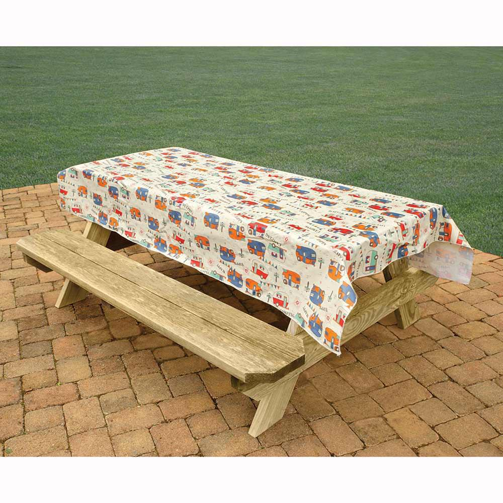 camping tablecloth camping trails