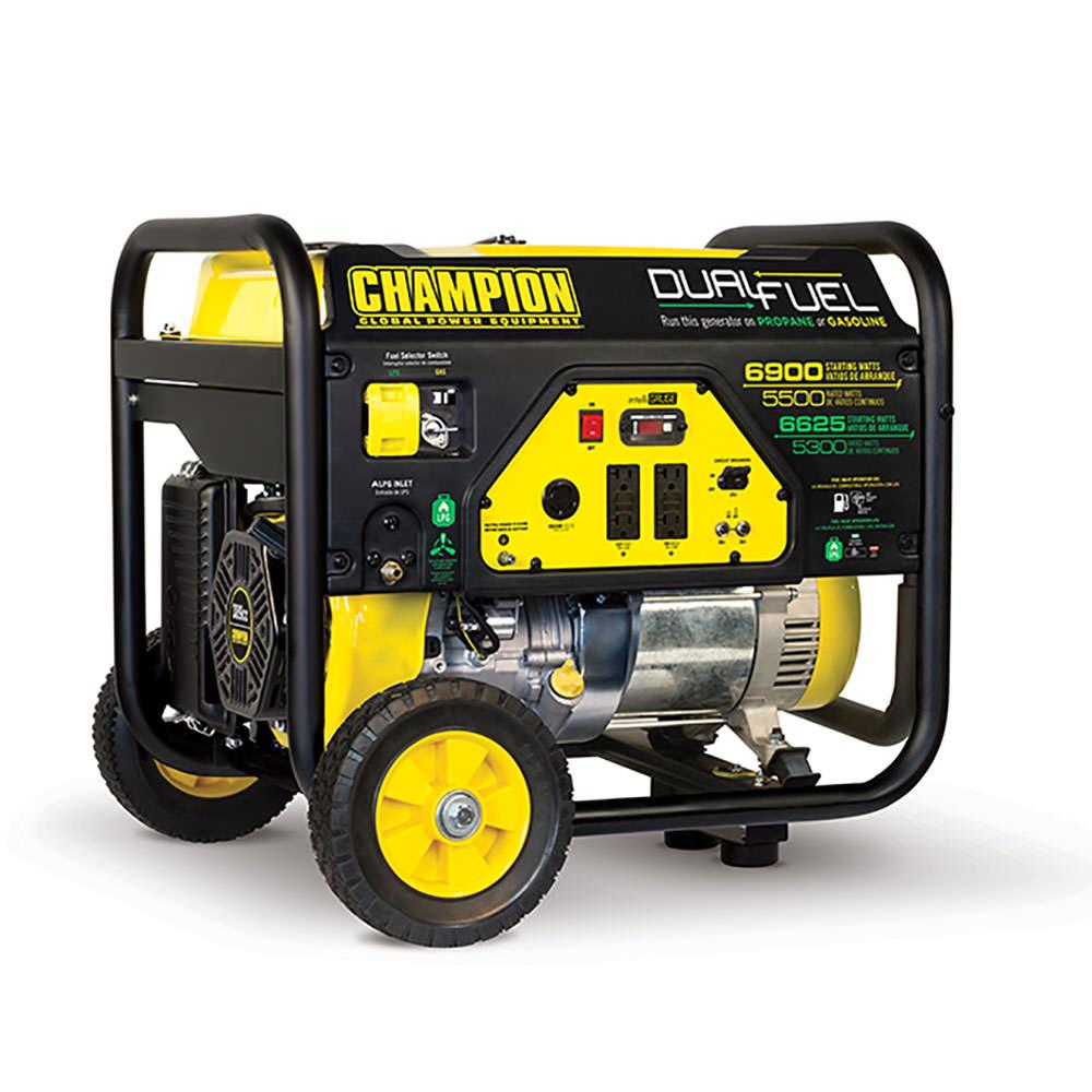 Champion 5500 watt dual fuel rv ready portable generator for 5500 3