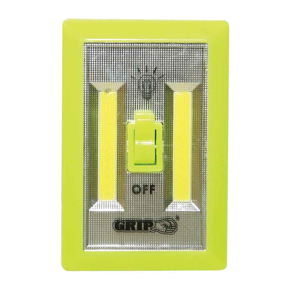 Glow-in-the-Dark COB LED Light Switch, 2 Pack - Grip On Tools 37112 ...