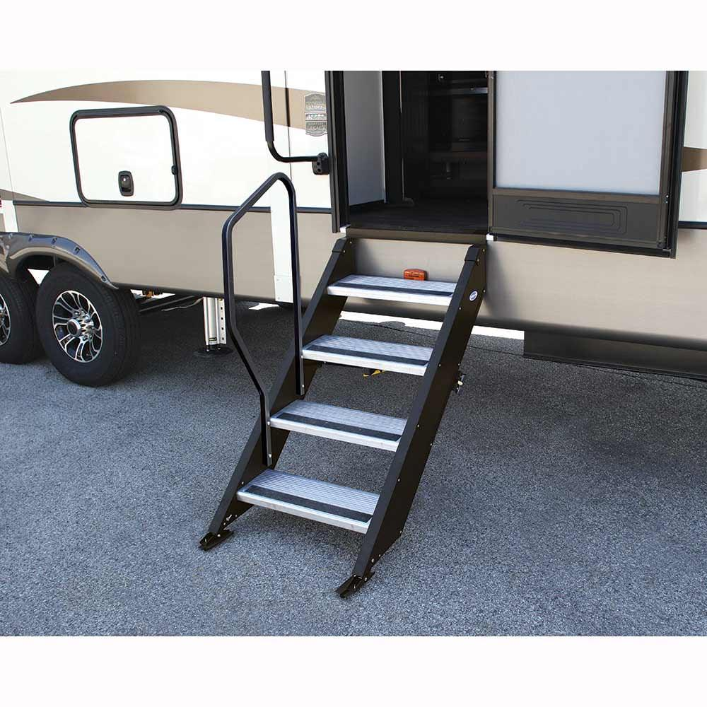 Step With Handrail Garage Stair Or Step Improvement