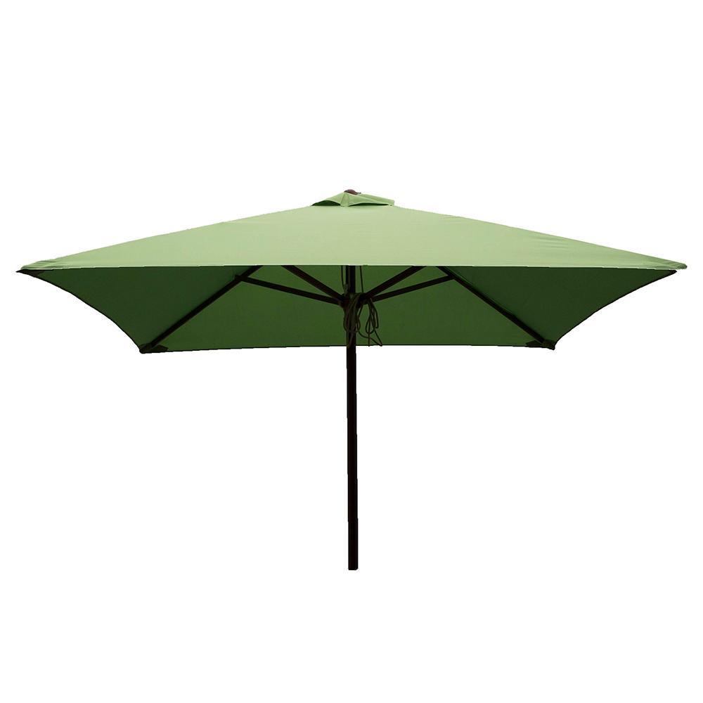 Classic Wood Square Patio Umbrella   Lime, 6.5 ...