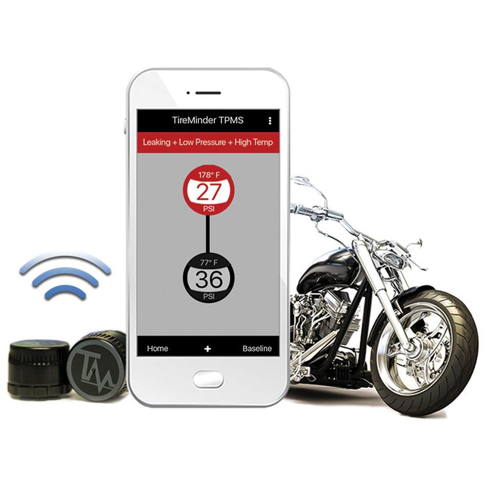 TireMinder® Motorcycle TPMS, Kit With 3 Bluetooth® Transmitters ...