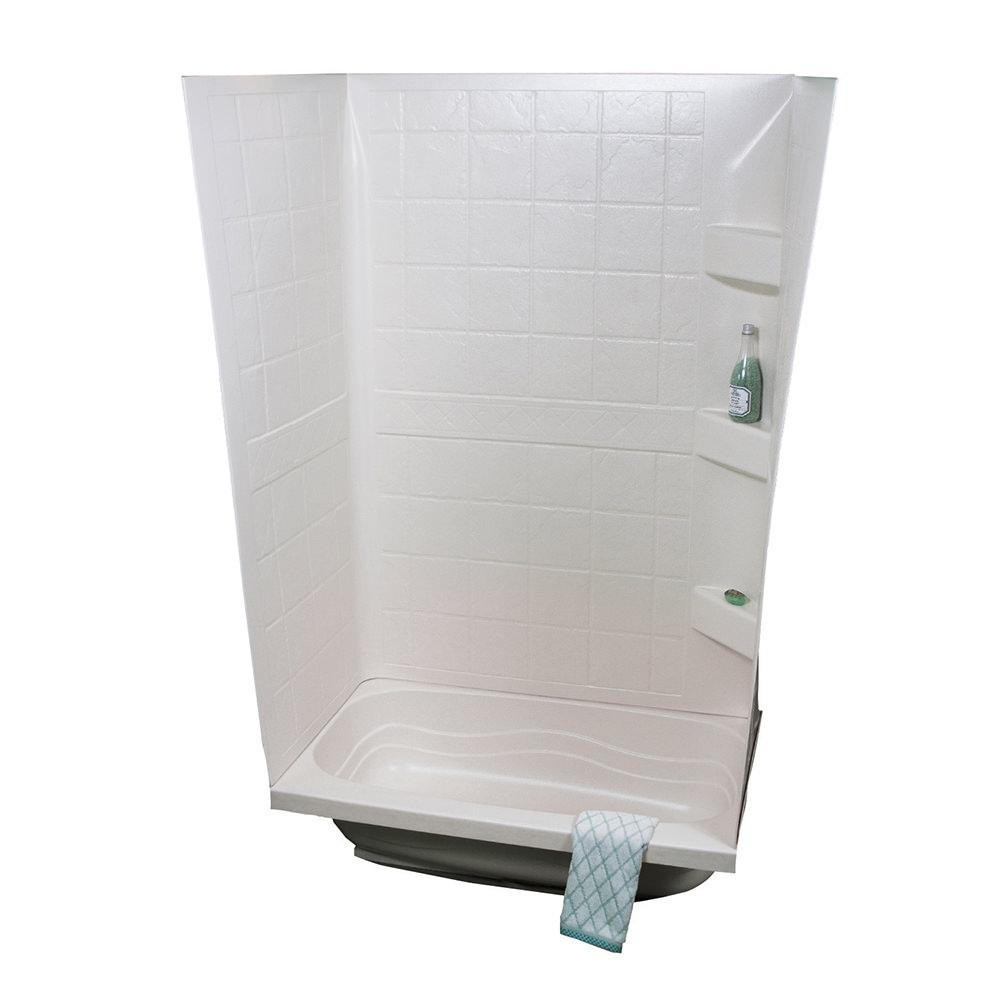 """ABS Tub Walls, 24"""" x 38"""" x 59"""", White - Specialty Recreation Inc ..."""