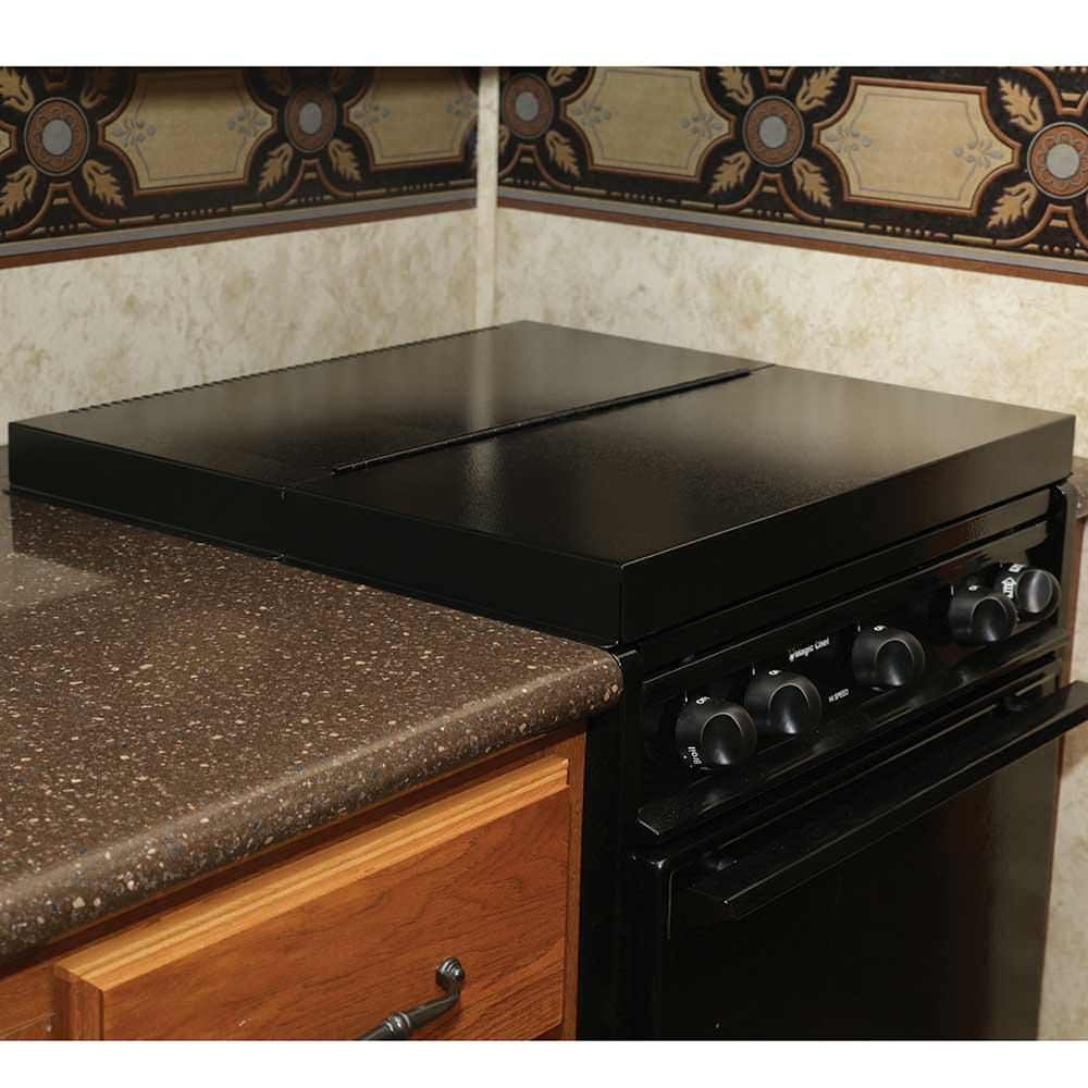 Black Universal Stove Top Cover - Camco 43554 - Counter & Stove ...