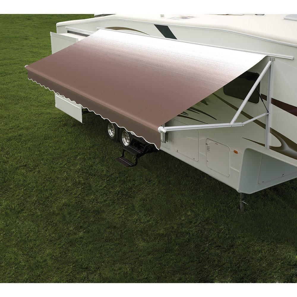 Vinyl Replacement Fabric For Dometic Universal Patio Awning, White  Weathershield Included