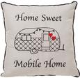 Home Sweet Mobile Home Pillow