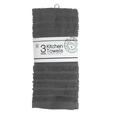 Kitchen Towels, Gray, 3 Pack