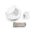 Camco Electric Cable Hatch with Back, White