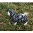 Black Polka Dot Rain Slicker, Large