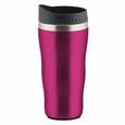 Compact Stainless Steel Travel Mug, 15 oz, Pink