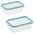 Snapware Total Sol Plastic 2 pack 3 cup Small Rectangle