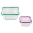 Snapware Total Sol Plastic 5.4 Cups, Square with Divided Tray