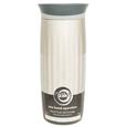 Fluted Stainless Steel Vacuum Tumbler, 16 oz, Stainless Steel
