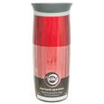 Fluted Stainless Steel Vacuum Tumbler, 16 oz, Ruby