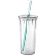 Clarion 20 oz. Tumbler with Straw, Clear