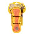 Triangle Ring Tiger Squeaky Toy, Orange/Yellow