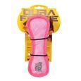 Triangle Ring Tiger Squeaky Toy, Pink/Pink