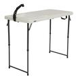 Lifetime 4' Fold-In-Half Adjustable Height Outdoorsman Table