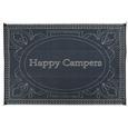 Happy Camper Patio Mat, 9' x 12, Black