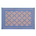 Reversible Windmill Design Patio Mat, 9' x 12', Navy/Taupe