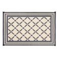 Reversible Windmill Design Patio Mat, 9' x 12', Gray/Taupe