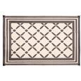 Reversible Windmill Design Patio Mat, 9' x 12', Brown/Taupe