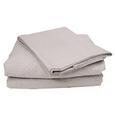 100% Cotton Sheets, Short Queen, Gray