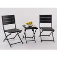 Faux Wood Patio Folding Chair, Set of 2
