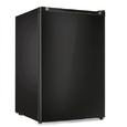 4.4 Cu. Ft. Free Standing Compact Refrigerator with Half-Width Chiller Compartment in Black
