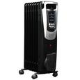 150 Sq. Ft. Electric Oil-filled Radiator Heater, Black