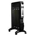 150 Sq Ft Micathermic Space Heater, Black