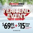 1 Year of Good Sam Roadside Assistance <font color=red>PLUS $15 Bonus Cash</a></font>