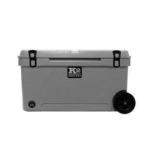 K2 Summit 60 Quart Wheeled Cooler, Steel Gray