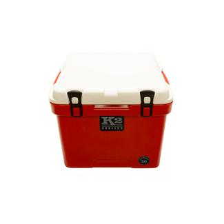 K2 Summit 30 Quart Cooler, Red Base and White Lid