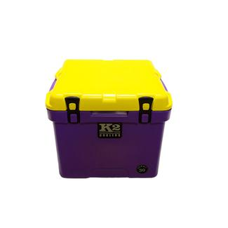 K2 Summit 30 Quart Cooler, Purple Base and Yellow Lid