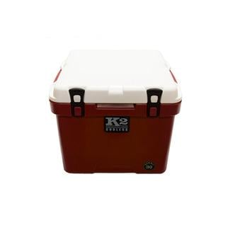 K2 Summit 30 Quart Cooler, Crimson Base and White Lid