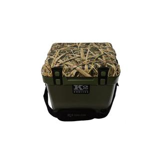 K2 Summit 20 Quart Cooler, Duck Boat Green and Shadowgrass Blades Camo Lid
